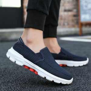 Men's Walking Shoes Slip On Sneakers Breathable Outdoor Casual Warm Comfortable