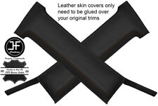 BROWN STITCH 2X B PILLAR REAL LEATHER COVERS FITS TOYOTA CELICA SUPRA 1982-1985