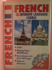 French CD Intensive Language Course (4xCDs ~ Coursebook ~ Table of Grammar) New