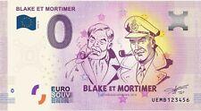 Monnaie Blake et Mortimer Billet Euro Souvenir 02 Euro Banknote Memory