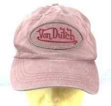 Von Dutch Baseball Cappello con Visiera Berretto regolabile Melanzana Logo