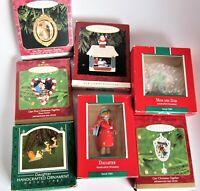 Lot 7 Hallmark Keepsake Christmas Ornaments 1987, 1989, 1993, 1998, 2000 - s#1