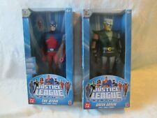 2005 MATTEL JUSTICE LEAGUE 10 INCH GREEN ARROW & THE ATOM LOT OF 2 NEW UNOPENED