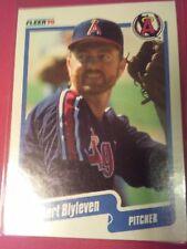 1990 Fleer #128 Bert Blyleven California Angels HALL OF FAME