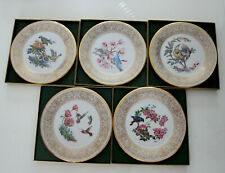 5 LENOX  BOEHM ANNUAL BIRDS COLLECTOR PLATES  1971 to 1975  MINT in boxes coa