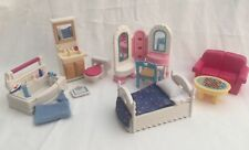 Fisher-Price Loving Family Dollhouse Furniture Girls Bedroom & Bathroom 11pcs