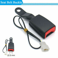 Black Camlock Car Front Seat Belt Buckle Padding Socket Plug with Warning Cable