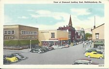 U.S. - HOLIDAYSBURG, PA. NOVEMBER 24, 1954 WAVE CANCEL ON STREET VIEW POSTCARD