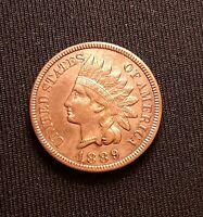 1889 Indian Head Cent/Penny - XF/AU Red Brown Luster