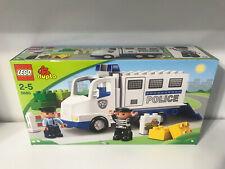 Lego Duplo Police Truck 5680 Paddy Wagon Officer Jail Bad Guy Lot Set NEW  NISB