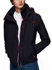 Superdry Mens Popzip Arctic Hooded Wind Cheater Multi Zip Up Jacket Coat Blue