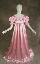 Rose Pink Jane Austen Style Regency 2 Piece Satin Ball Gown 3X Cosplay Costume