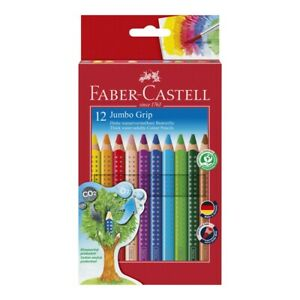 Faber-Castell Jumbo GRIP Buntstifte - 12 Stück in Kartonetui