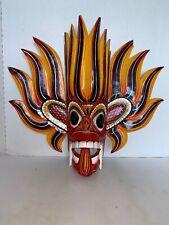 """Handmade Wooden Wall Hanger Devil Fire Mask Art Sculpture 17"""""""