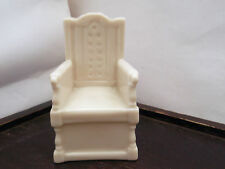 VINTAGE  MODEL OF A CHAIR / THRONE    CRESTED WHITSTABLE   BYGRAFTON CHINA