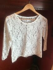 Vero moda white lace top with sleeves