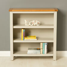 Mullion Painted Small Bookcase / Small Oak Bookcase with Adjustable Shelves