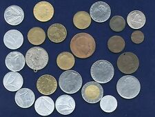 ITALY KINGDOM & REPUBLIC ASSORTED COINS & MEDAL, 20 LIRE 1957 & 1958 BOTH TYPES