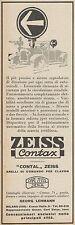 Z3259 Segnalatore di direzione ZEISS Contax - Pubblicità d'epoca - 1928 Old ad