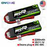 2X OVONIC 2200mAh 11.1V 25C 3S Lipo Battery Deans Plug For Helicopter Drone FPV
