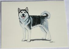 Alaskan Malamute Dog Zeppa Studios Fur Children Note Cards Set of 8