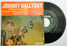 EP Johnny Hallyday quand revient la nuit 45T BIEM 437054BE Bon état
