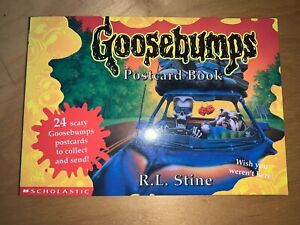 Goosebumps Postcard book - complete with 24 new postcards - Scholastic 1996