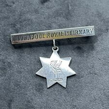 More details for vintage liverpool royal infirmary white metal silver plate? bar badge brooch pin