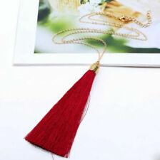 Women Fashion Tassel Pendant Sweater Chain Long Beads Necklace Jewelry Gifts