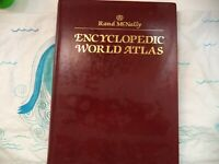 Rand McNally Book Encyclopedic World Atlas 1990 Hardcover Color Maps Resource