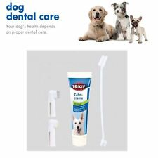 DOG PUPPY DENTAL CARE KIT MINT TOOTHPASTE & FINGER TOOTHBRUSH