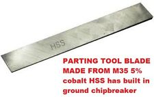 """Cut off Parting Tool Blade M35 5% cobalt HSS 1/8""""x 3/4""""x 6"""" blade only for lathe"""