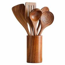 Healthy Cooking Utensils Set,Tmkit Wooden Cooking Tools and storage wooden barre