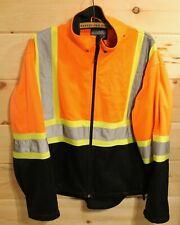 Forcefield Protective Clothing Reflective Orange Work Zip Up Jacket Size Large