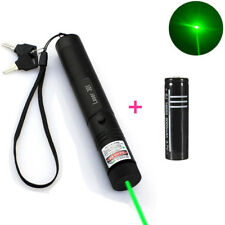 10Miles Military Green 1mw 532NM Laser Pointer Lazer Pen Visible Beam Burn+18650