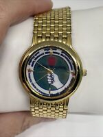 Vintage Mema Patriotic Union Of Kurdistan Goldtone Watch