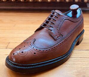Florsheim Wonder Arch Brown Pebbled Cashmere Calf Wingtip Shoes 11.5E VTG Vcleat