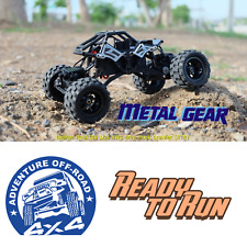 Ready to Run Basher RockSta 1/24 4WS Mini Rock Crawler RTR Metal Gears RC Car