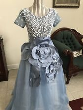 Beaded Quinceanera Dress Size 2 Cornflower Blue  Pageant Prom Ball Gown, Formal