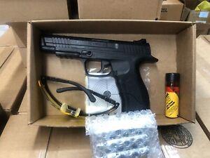 Daisy PowerLine 415 CO2 Pistol 500FPS  Kit w/ 3 Tanks, 350 steel BBs, Glasses