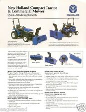 Farm Tractor Brochure - New Holland - Quick Attach Implements - 2003 (F2479)