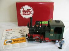 Vintage LGB Lehmann G Scale Green 0-4-0 Steam Locomotive w/ Smoke #2010D VG