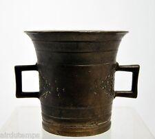mortero de FARMACIA bronce XIX Ht 9,4 cm Diam 10cm 1,2kg