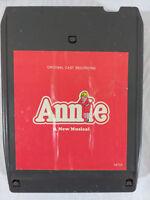 Vintage ANNIE Soundtrack Original Cast 8-Track Tape 1977 TESTED Ships FREE