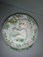 """1996 Hamilton Collection DREAMSICLES """" You Got A Friend"""" Round Music/Jewelry Box"""