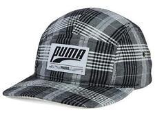 Puma Plaid Retro Patch 5 Panel Camper Hat Mens Adjustable Snapback NWT NEW