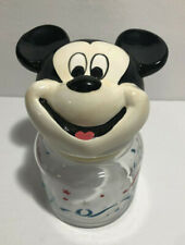 Disney Mickey Mouse Treat Jar with Lid Red, White & Blue Walt Disney