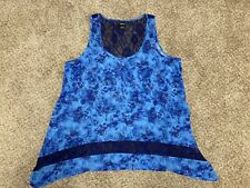 Hot Topic Disney Lilo and Stitch Tank Top Adult Size Xl Lace Blue Preowned