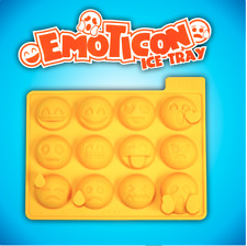 Emoticons Ice Cube Tray Silicone Mould Makes 12 Emoji Cubes