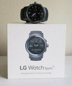 LG WATCH SPORT W280 4G LTE 45.4mm STAINLESS STEEL CASE TITANIUM/GRAY BAND(7691)